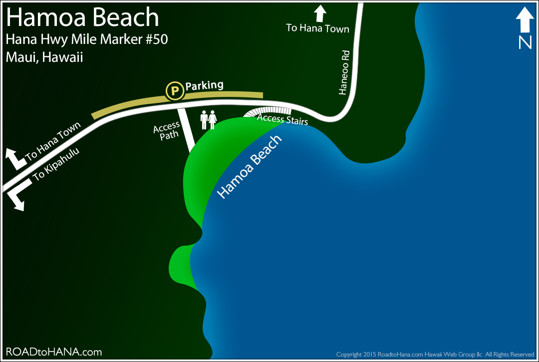 Hamoa Beach Map