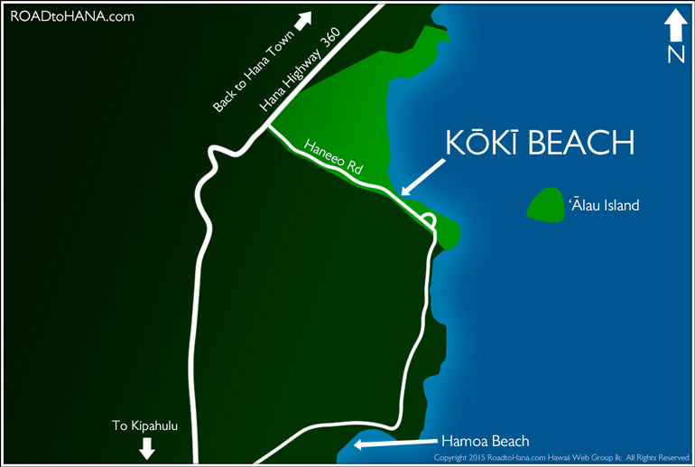 Koki Beach Map