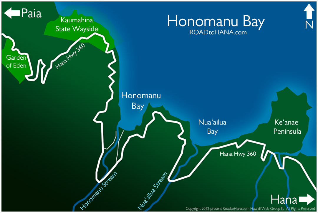 Honomanu Bay Map